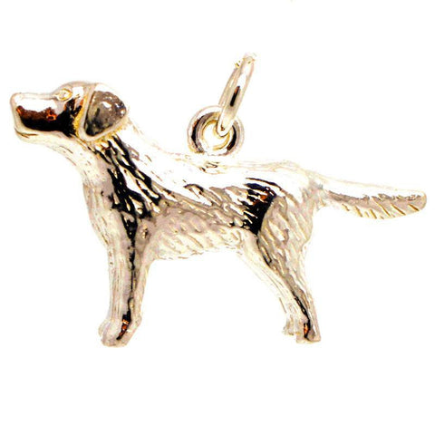 Gold Labrador Dog Charm