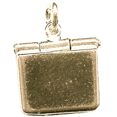 Gold Laptop computer Charm