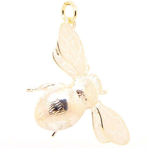 Gold Large Bumble Bee Charm