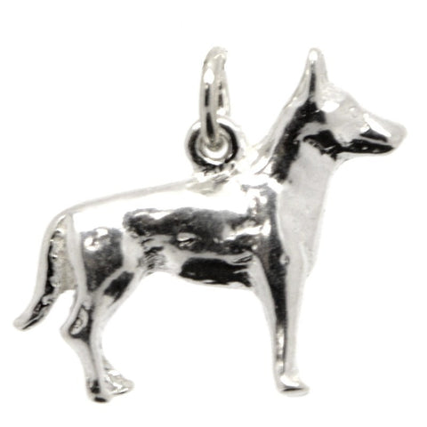 Gold Large German Shepherd Dog Charm