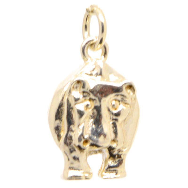 Gold Large Hippo Charm - Perfectcharm - 1