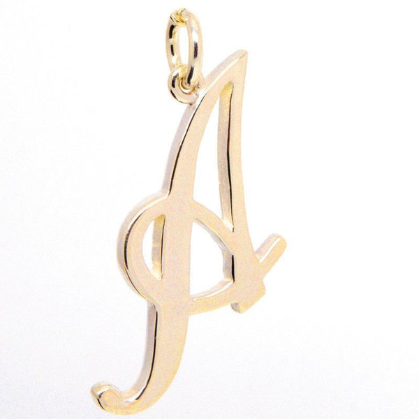 Gold Large Italic A Charm - Perfectcharm - 1