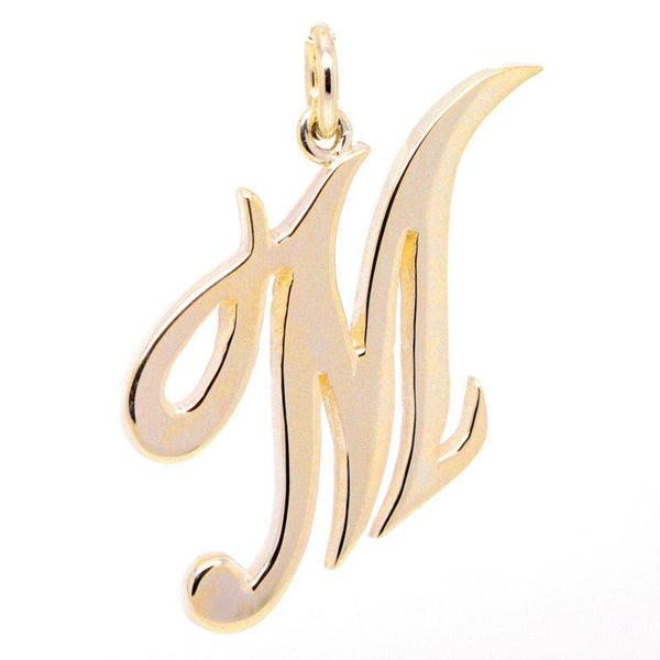 Gold Large Italic M Charm - Perfectcharm - 1
