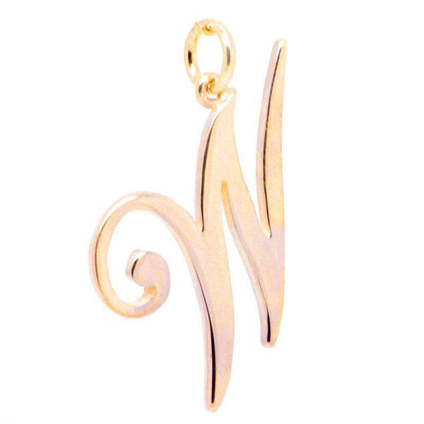 Gold Large Italic W Charm - Perfectcharm - 1