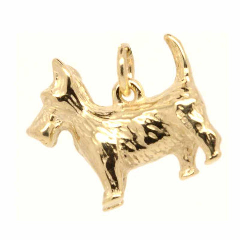 Gold Large Scottie Dog Charm