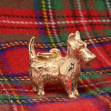 Gold Charm - Gold Large Scottie Dog Charm