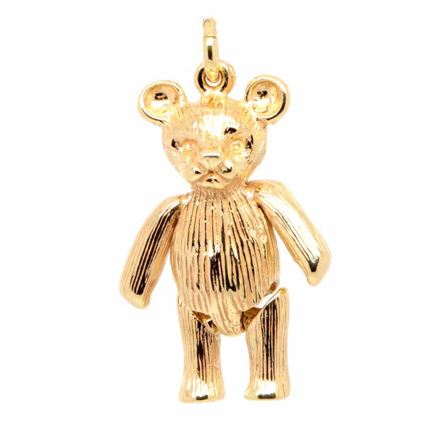 Gold Large Teddy Bear Charm - Perfectcharm - 1