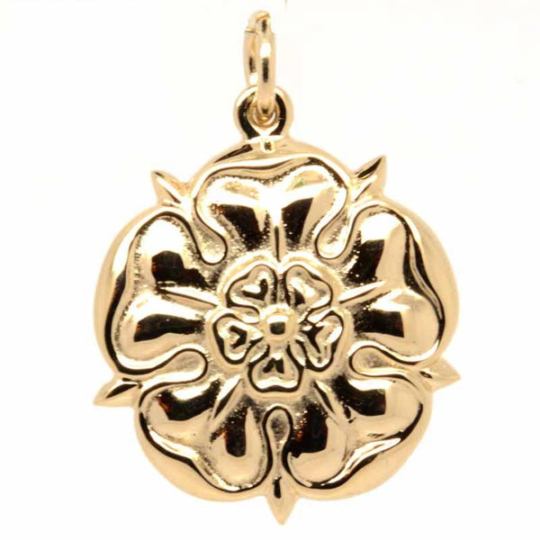 Gold Charm - Gold Large Tudor Rose Charm