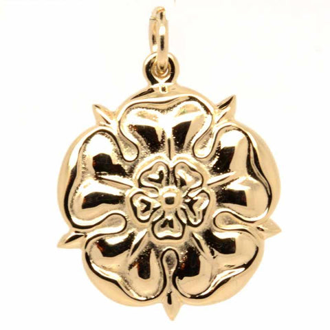 Gold Large Tudor Rose Charm