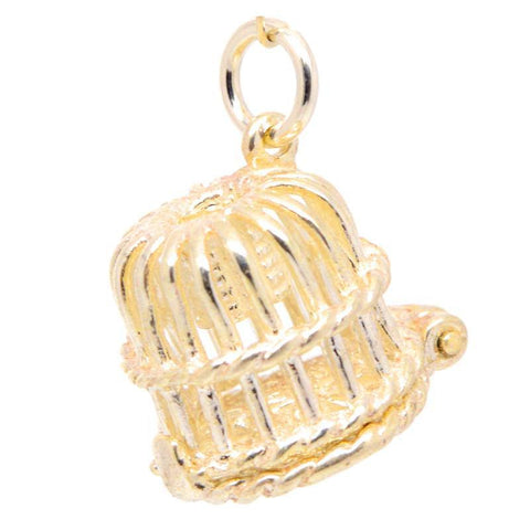 Gold Lobster Pot Charm