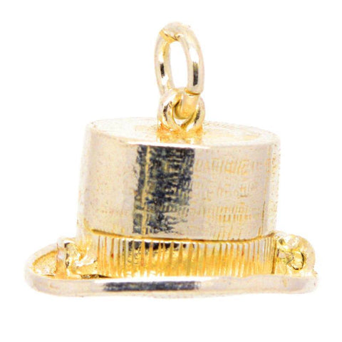 Gold Magicians' Top Hat Charm