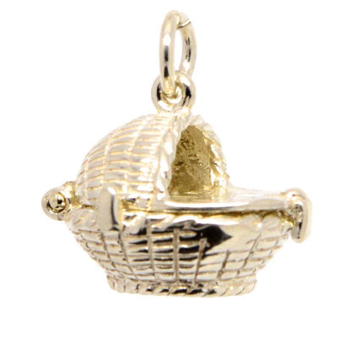 Gold Moses Basket Charm