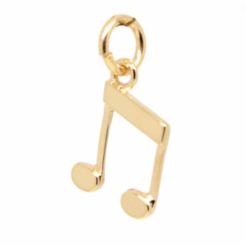 Gold Musical Note Quavers Charm