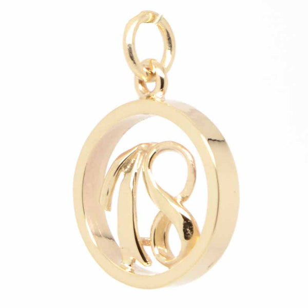 Gold Number 18 in Ring Charm - Perfectcharm - 1