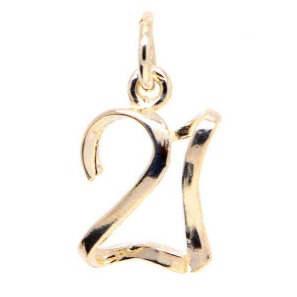 Gold Number 21 Charm - Perfectcharm - 1