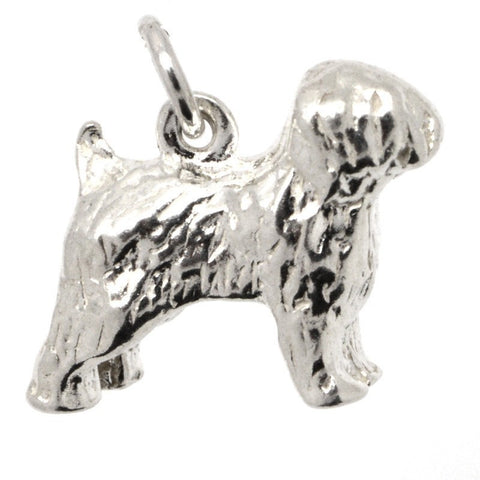 Gold Old English Sheepdog Charm