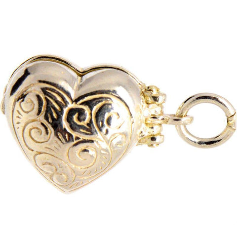 Gold Opening Heart Charm