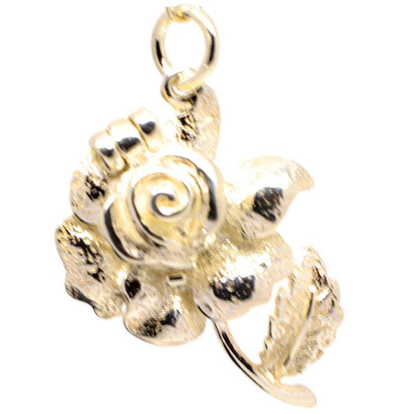 Gold Opening Rose Charm - Perfectcharm - 1
