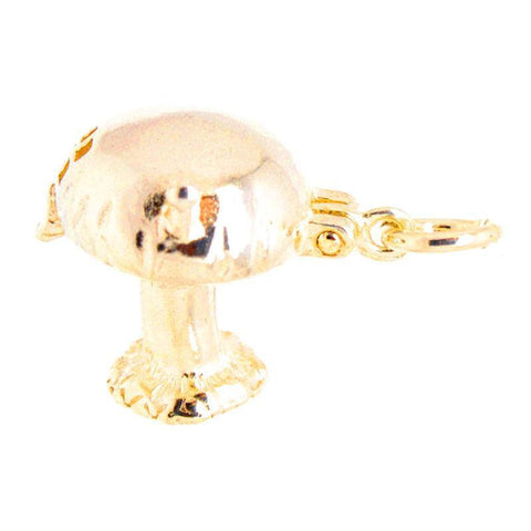 Gold Opening Toadstool Charm