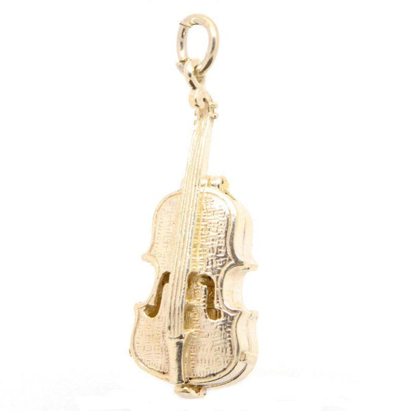 Gold Opening Violin Charm - Perfectcharm - 1