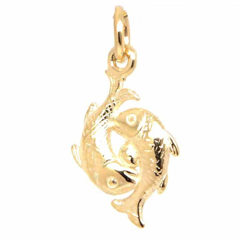 Gold Pisces Charm