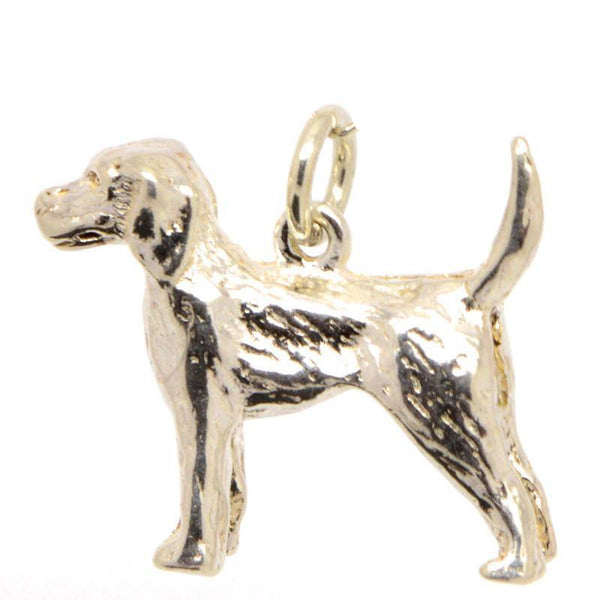 Gold Pointer Dog Charm - Perfectcharm - 1