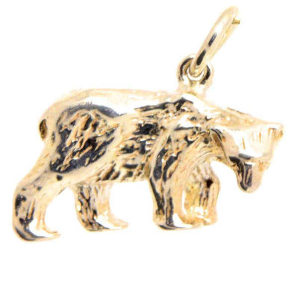 Gold Polar Bear Charm - Perfectcharm - 1