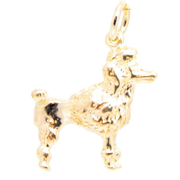 Gold Poodle Dog Charm - Perfectcharm - 1