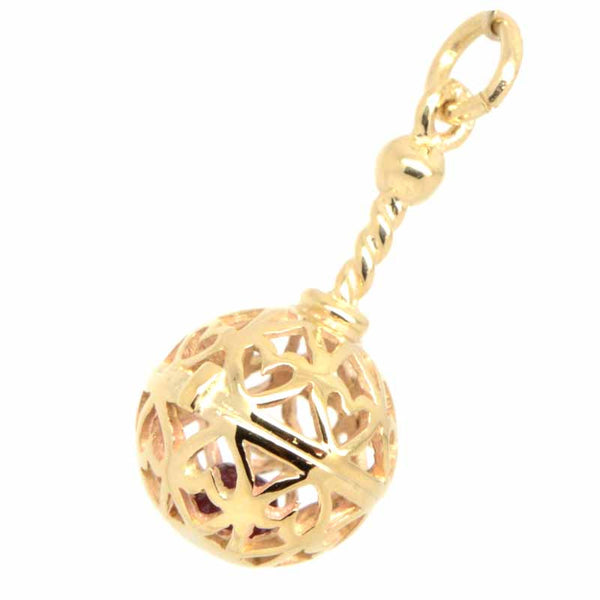 Gold Rattle Charm - Perfectcharm - 1