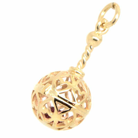 Gold Rattle Charm