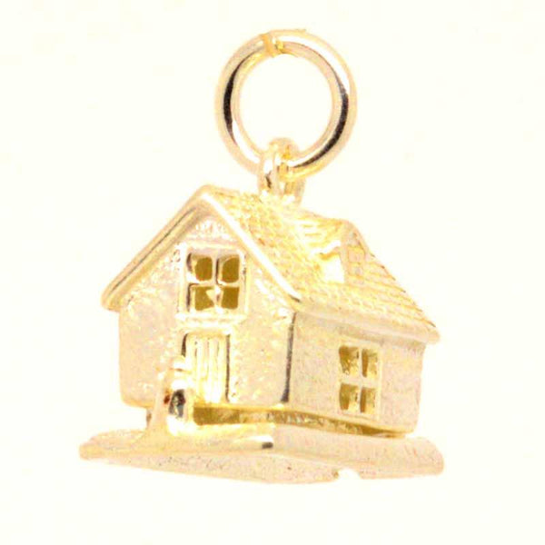 Gold Charm - Gold Red Riding Hood's Cottage Charm