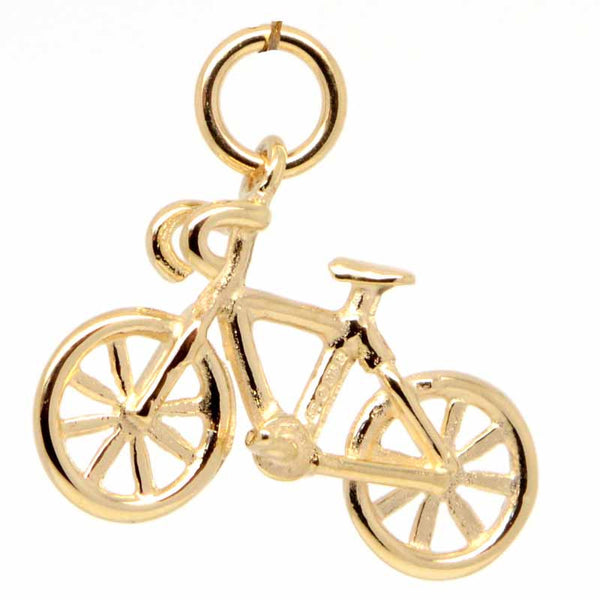 Gold Road Racing Bike Charm - Perfectcharm - 1