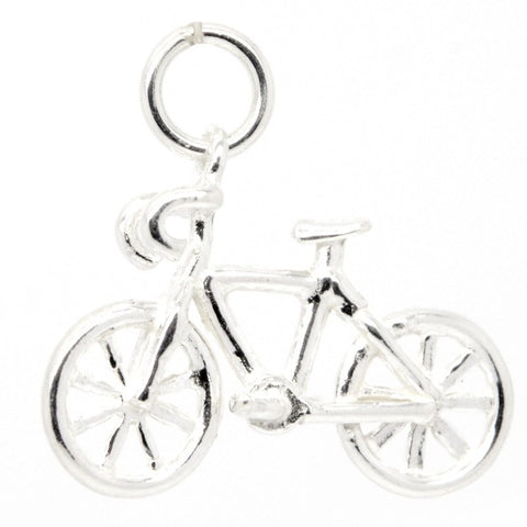 Gold Road Racing Bike Charm