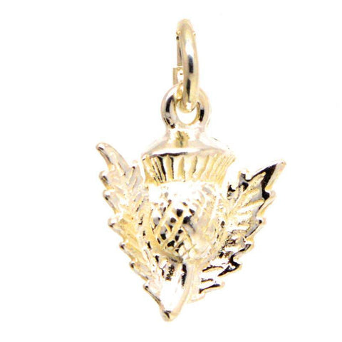 Gold Scottish Thistle Charm