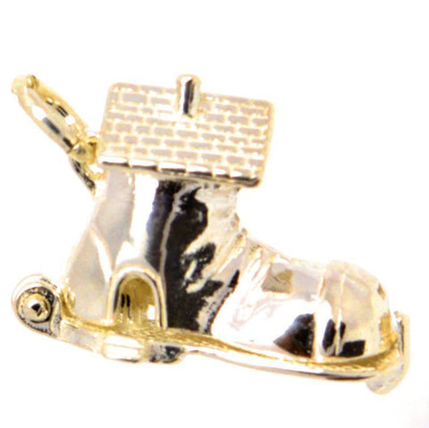 Gold Shoe House Charm