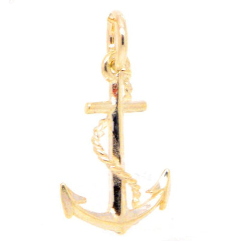 Gold Small Anchor Charm