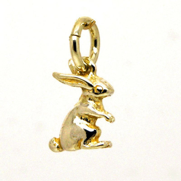 Gold Small Bunny Rabbit Charm - Perfectcharm - 1