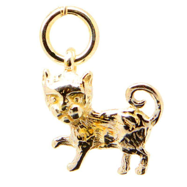 Gold Small Cat Charm - Perfectcharm - 1