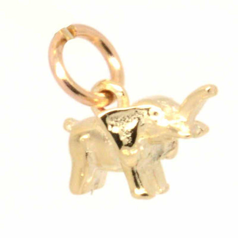 Gold Small Elephant Charm