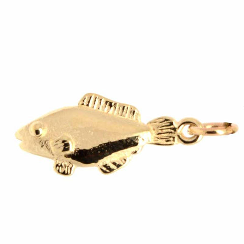 Gold Small Fish Charm