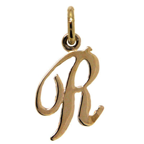 Gold Small Italic R Charm