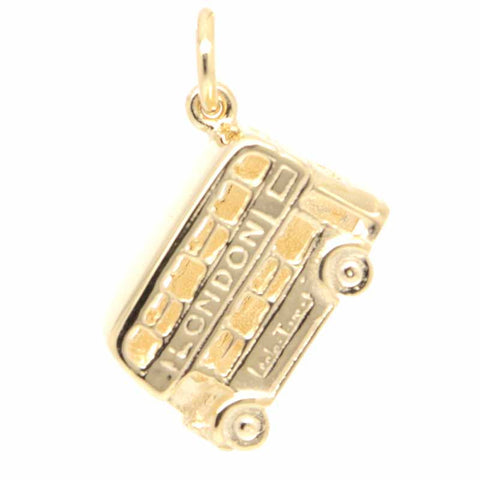 Gold Small London Bus Charm
