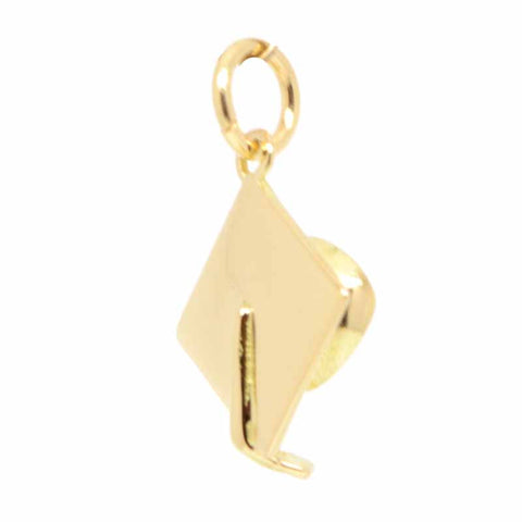 Gold Small Graduation Cap or Mortarboard Charm