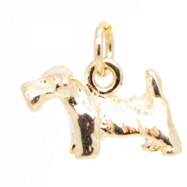 Gold Small Scottish Terrier Dog Charm - Perfectcharm - 1