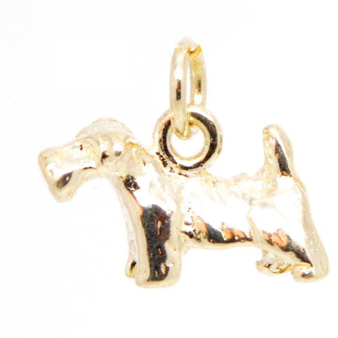 Gold Small Scottish Terrier Dog Charm