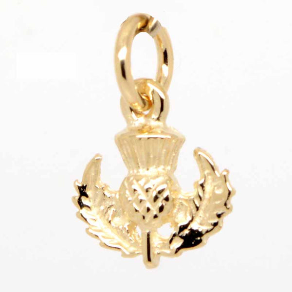 Gold Small Scottish Thistle Charm - Perfectcharm - 2