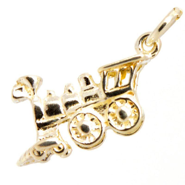 Gold Small Train Charm - Perfectcharm - 1