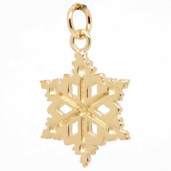 Gold Snowflake Charm - Perfectcharm - 1