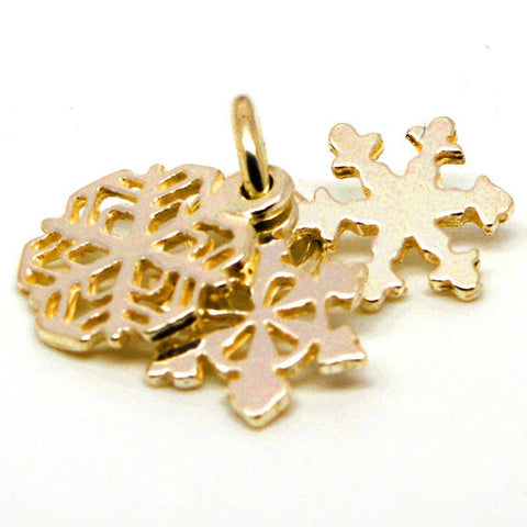Gold Snowflake Cluster Charm
