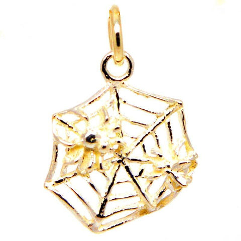 Gold Spider Web Charm